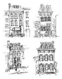 set of old hand drawn houses royalty free stock image storyblocks