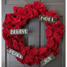 wooden words ornaments set of 4 peace noel