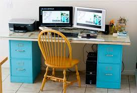 Diy File Cabinet Desk How To Turn A File Cabinet Into A Desk Diy Projects For Everyone