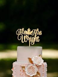 fall wedding cake toppers fall wedding cake topper fall in cake topper last name wooden