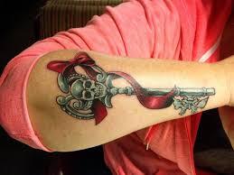24 best skull key tattoos