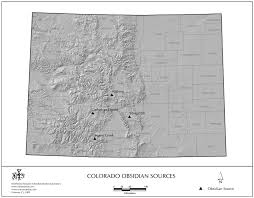 Colorado Mountains Map by Obsidian Source Maps United States