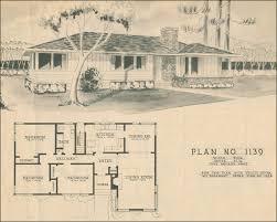 mid century modern house plans 1950 modern ranch style house