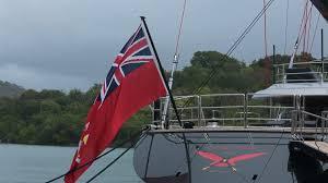 Flag Of Antigua Yacht With German Flag Sailing Stock Video Footage Videoblocks