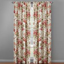 Pink Flower Shower Curtain Waverly Pink Floral Window Curtains Set Of 2 Christmas Tree