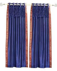 Sari Curtain Don U0027t Miss This Deal On Blue Grommet Top Sheer Sari Curtain Panel