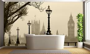 Bathroom Wall Murals Uk Foggy London Wall Mural Uk Wall Murals Wallpaper Ink
