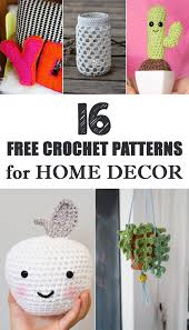 home decor patterns free crochet patterns for home decor