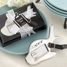 Suitcase Favors by Airplane Luggage Tag In Gift Box With Suitcase Tag Wedding Favors