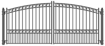 aleko style iron wrought gate 14 high quality ornamental