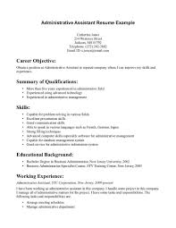 resume examples office assistant administrative assistant resume