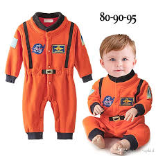 Astronaut Costume 2017 Baby Boys Nasa Astronaut Costumes Infant Halloween Romper For
