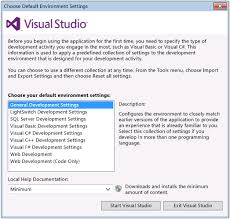 visual studio reset application settings customizing development settings in visual studio