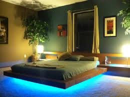 platform bed with led lights hand made asian contemporary wood platform beds