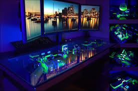 pc gaming desk custom gaming computer desk 74 awesome exterior