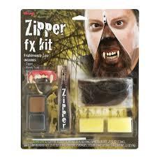 devil spirit halloween halloween zipper face kit scary zip bloody fancy dress special fx