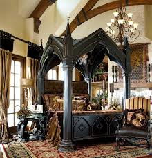 damn have the massive four poster but not like this am missing canopy bed gothic bed medieval bedroom ideas medieval gothic home medieval kings bed gothic castle bed i am in love