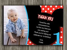 printable mickey mouse photo thank you card birthday party