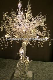 lighted tree centerpieces for weddings acrylic crystal wedding