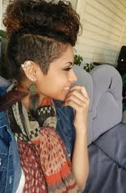 hairstylesforwomen shortcuts interesting trend half shaved curly mohawk hairstyles for women