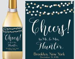 happily after wine labels printable wedding favor