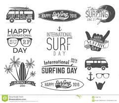 surf car clipart summer surfing day graphic elements vector vacation typography