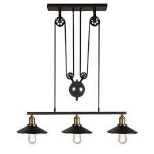 pulley pendant light fixtures iron pulley pendant light motent industrial vintage 3 light