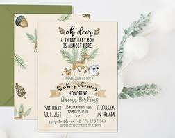 woodland baby shower invitations woodland baby shower etsy