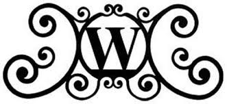 iron on monogram initials wrought iron house plaque let w 24 in house plaques wrought