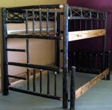 Wooden Log Beds Hickory Bunk Bed U2014 Barn Wood Furniture Rustic Barnwood And Log