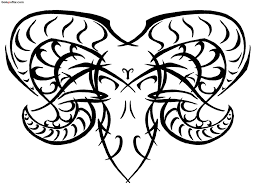tribal aries tattoo design stencil goluputtar com