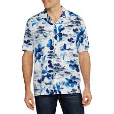 Halloween Hawaiian Shirt by George Big Men U0027s Rayon Print Hawaiian Shirt Walmart Com