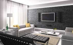 new living room furniture styles with grey colours and unique wall