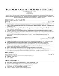 Entry Level Business Analyst Resume Examples by Resume Of Business Analyst Template Examples