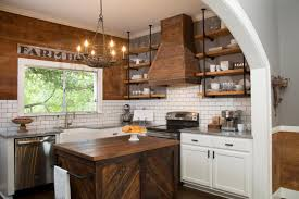 kitchen marvelous rustic kitchen open shelving gray cabinets