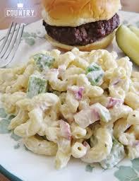 pasta salad with mayo mom s macaroni salad the country cook