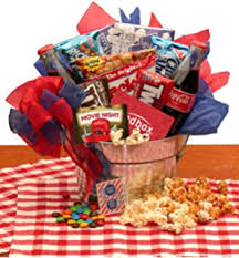 Movie Themed Gift Basket Amazon Com Movie Night Redbox Movie Gift Basket With Candy And