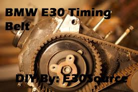 the official bmw e30 timing belt replacement 325e s 325i x s early