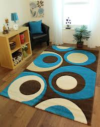 Chocolate Brown And Blue Area Rug by Blue And Brown Rugs With Circles Rug Designs