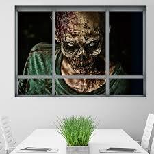 halloween window zombie 3d wall art sticker for bedrooms in 48 5 halloween window zombie 3d wall art sticker for bedrooms colormix 48 5 68cm