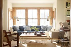 handsome image of coastal living room decoration using patterned