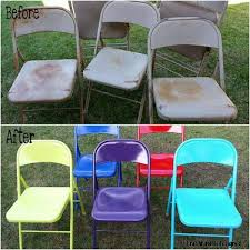 Metal Folding Chair Covers 30 Low Budget Makeovers You Could Do With Spray Paint Spray