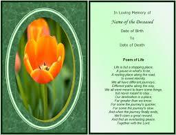 memorial cards samplesmemorial card template template memorial