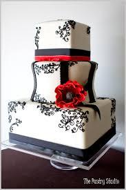 katiesheadesign cakes black white red the pastry