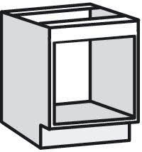 meuble de cuisine four meuble bas pour four plaque bali blanc l 60 x h 82 x p 57 6 cm