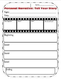 personal narrative sequencing organizer writing pinterest