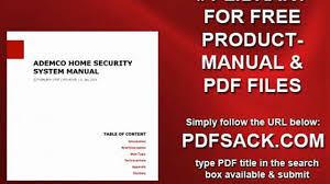Ademco Home Security System Manual Video Dailymotion