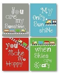 You Are My Sunshine Wall Decor Amazon Com You Are My Sunshine Train Art For Kids Train Decor