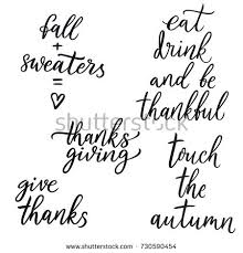 autumn thanksgiving quote autumn quote stock vector 730590454
