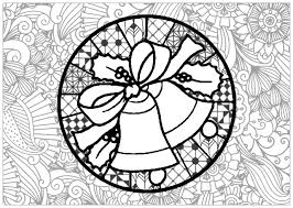 christmas bells christmas coloring pages adults justcolor
